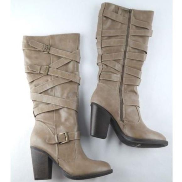 98c6d53f50def5 JustFab Shoes   Just Fab Debrina Tall Boots Size 85   Poshmark